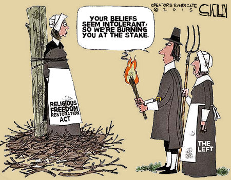 Burn them at the stake for tolerance!