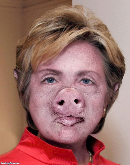 Hillary Clinton Is A Pig