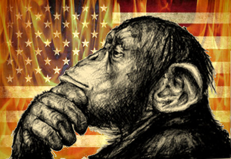 Ape Think While Nation Burns