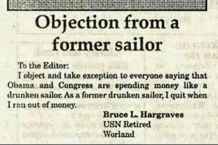 An objection to comparing Obama to a drunken sailor