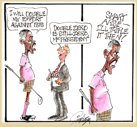 Obama Doubles Effort vs. ISIS - Apparently math, like truth, is too White for him