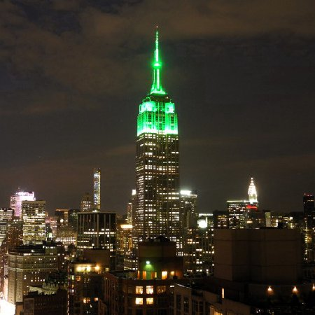 Empire State Building lit Islam Green for Muslim holiday