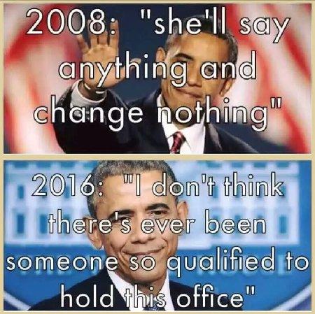 Obama on Hillary - 2008 vs. 2016