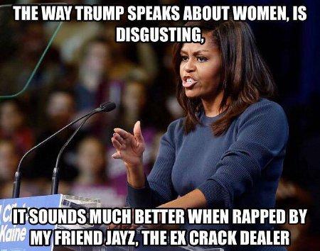 Michelle on Trump