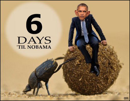6 Days Until We Remove The Ball Of Shit From The White House