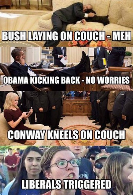 Conway Triggers Liberals - Hair Trigger TURDS