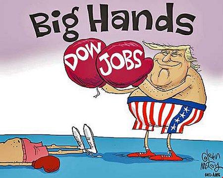 President Trump's Big Hands