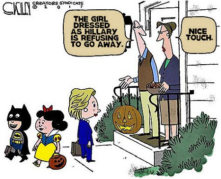 Hillary Costume - Annoying Yet Well Done And Apropos