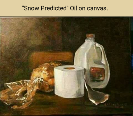 Snow Predicted - Oil on Canvass