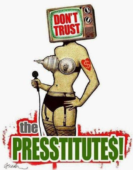 Presstitutes - Never Believe Them. Never Trust Them