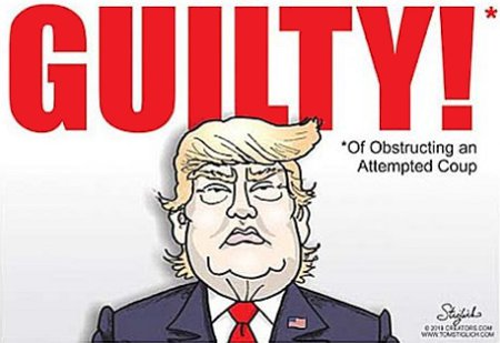 Trump's Obstruction Is Plain As Day. He's been obstructing the Dems' coup attempt against him since before he was even elected