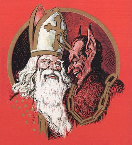 It's Collusion I Tell You! St. Nicholas and Krampus are in it together!