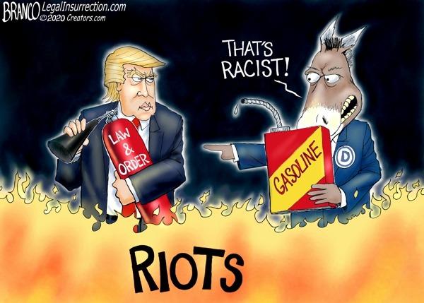 President Trump's Racist Riot Response