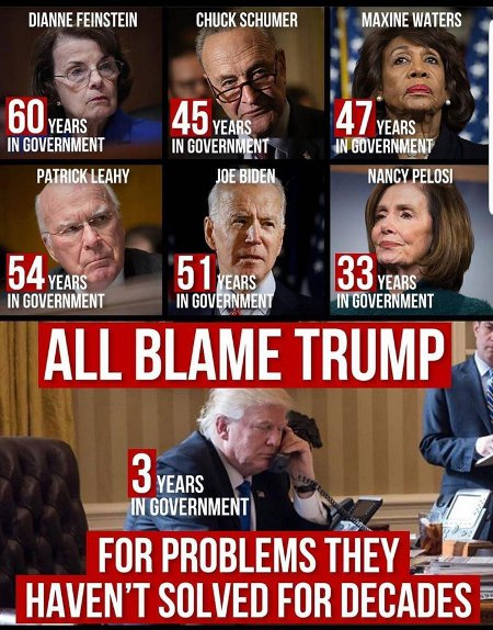 Career Democrats - Of Course They All Blame Trump