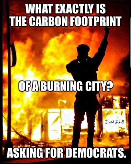 What's the carbon footprint of burning a city?  Asking for democrats