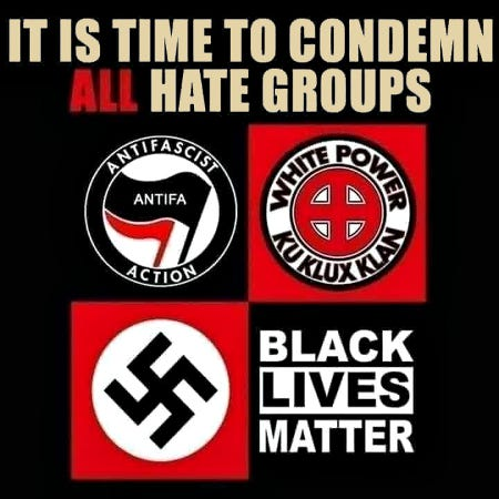 Condemn All Hate Groups?