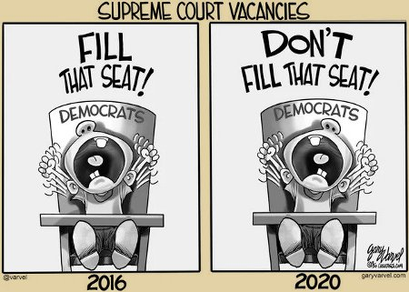 Dems On SCOTUS Vacancies 2016 vs. 2020