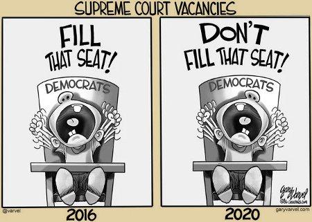 Dems On SCOTUS Vacancies 2016 vs. 2020
