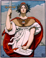 Lady Liberty With Sword Upraised