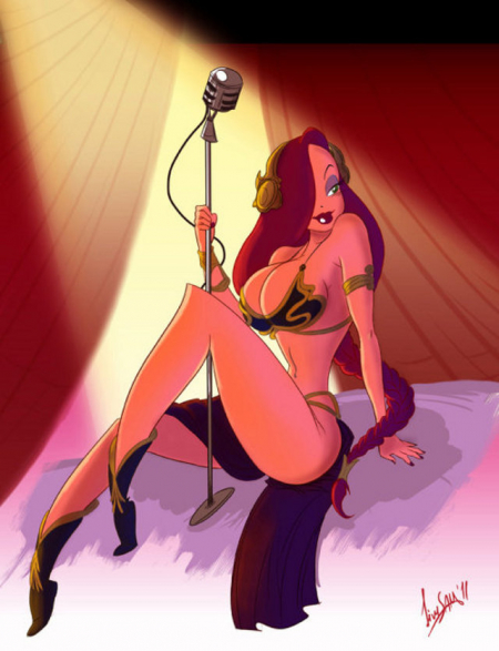 Jessica Rabbit as Slavegirl Liea