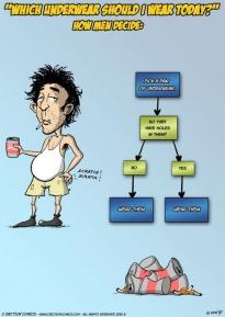 Men Choosing Underwear