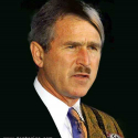 Bush as Adolph Hitler
