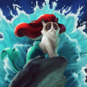 Grumpy Cat Disney Princess - 01
