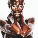 Heidi Klum Nude And Covered in Chocolate - 03