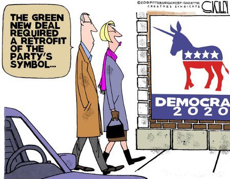 The Green New Deal Prompts Dem's Logo Change