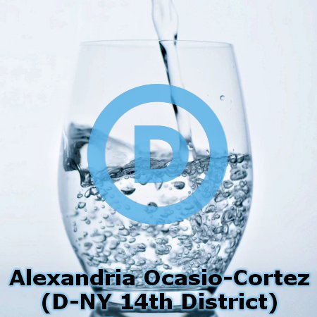 AOC Just A Glass Of Water With A D On It