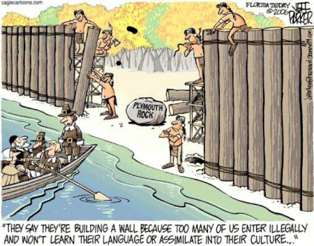 Pilgrims - Illegal Immigrants